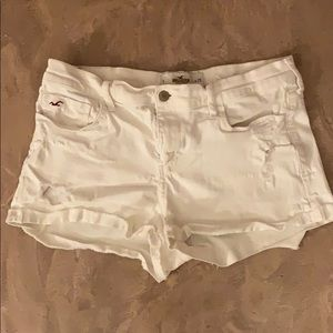 Pants - White Denim Shorts
